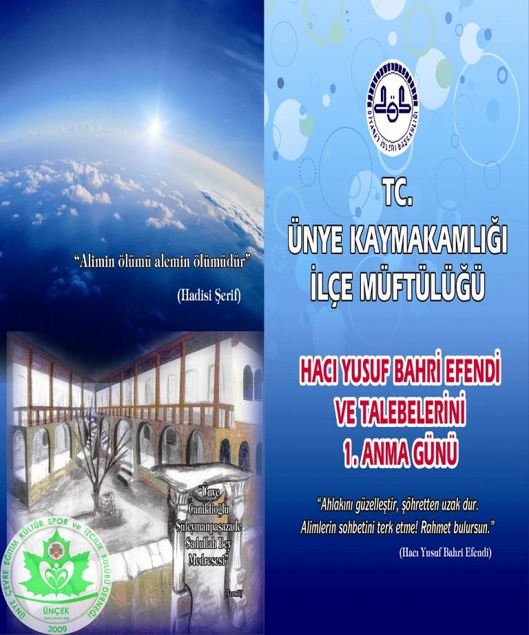Hacı Yusuf Bahri Efendi Anma Programı