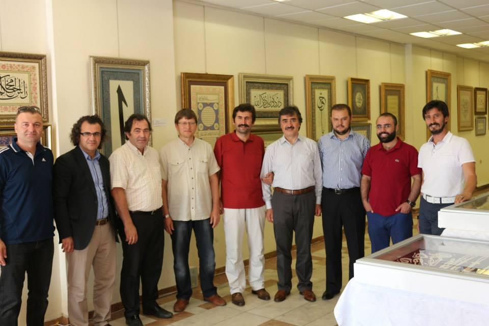 Ünçek'in Organize Ettiği Hüsn-ü Hat, Tezhib ve Tesbih Sergisi
