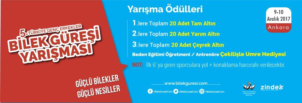 Zinde Gençlik, 5. Türkiye Genç Erkekler Bilek Güreşi Yarışması Düzenliyor